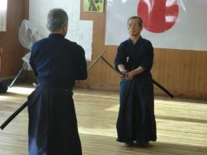 今年見事七段に昇段された西山先生による日本剣道形演武。