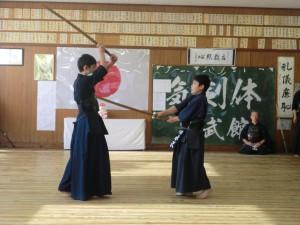 水沢君と近藤君の「木刀による剣道基本技稽古法」