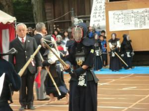 申武館剣士の試合の様子 2