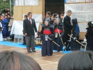 申武館剣士の試合の様子 3