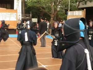 中学生剣士の試合の様子 2