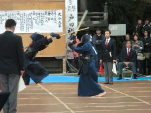 中学生剣士の試合の様子 1