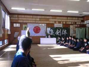 来賓の教士八段福田先生よりお話をいただきました
