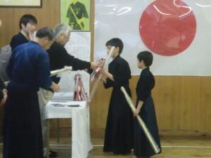入賞した剣士の皆さん、本当におめでとう!!