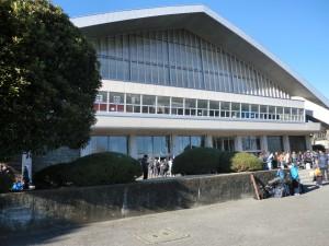 会場の栃木県体育館です!