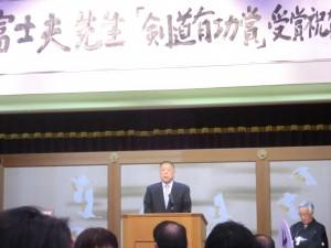 栃木県剣道連盟白石会長の挨拶
