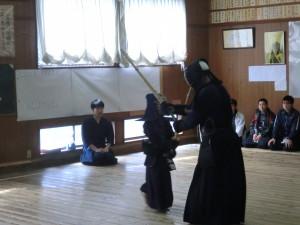 基本組の本田君が基本打ちを披露(上手になりました(^_-)-☆)